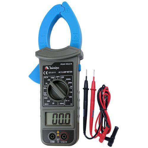 Alicate Amperímetro Digital Minipa ET-3111 CAT III 600V
