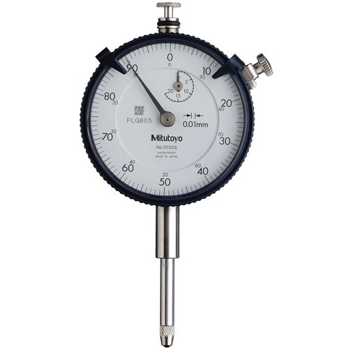 Relógio Comparador Mitutoyo Modelo Com Curso Longo Tampa Com Orelha 20mm 0,01mm 2050S