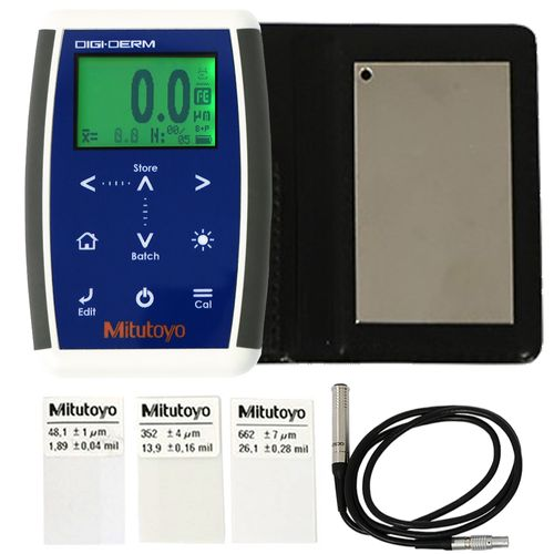 Medidor de Espessura de Camadas Mitutoyo DIGI DERM (FERROSO) – Base Magnética - 979-761