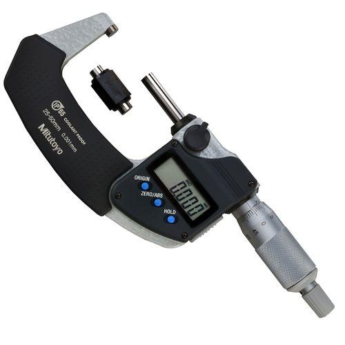 Micrômetro Externo Digital Mitutoyo 25-50 mm 0,001mm Sem Saída de Dados Proteção IP65 293-241-30